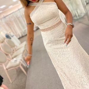 Ivory Stone Aline wedding dress